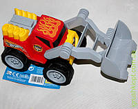 Погрузчик 2439 Hot Wheels, прочный пластик, резиновые колеса, подвижные детали, klein