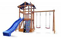 Детский деревянный игровой комплекс Babyland-3 + горка