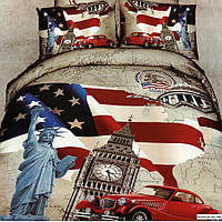 Комплект постельного белья Евро 3D Сатин 200х220 Бомонд stp 566