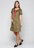 Платье женское Maison Scotch цвет болотный размер М арт 1621-02-10341, фото 1