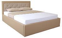 Кровать двуспальная Irma на подъемном механизме lift 1600x2000 beige Бесплатная доставка