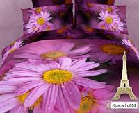 Комплект постельного белья Евро 3D Сатин 200х220 Краса stp 896