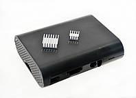 Корпус для Raspberry Pi 3 чёрный с алюминиевыми радиаторами