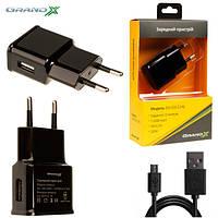 Блок питания Grand-X CH-03UMB USB 5V 2,1A Black + кабель Micro USB 1.0M