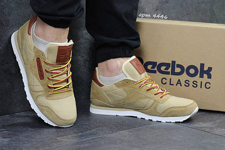 Мужские кроссовки Reebok Workout бежевые,плотный текстиль 43,44р, фото 2