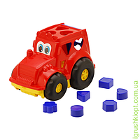 """Сортер-трактор """"Кузнечик"""" №1: трактор с вкладышами COLORplast"""