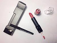 Набор МАС 4in1 Ruby Woo (помада+блеск для губ+карандаш для губ)