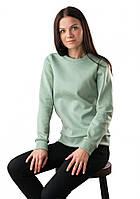 Фисташковый теплый свитшот для женщин (XS-2XL), фото 1