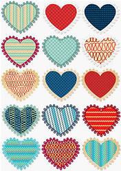 """Вафельная картинка для торта """"Сердца"""", (лист А4, толщина 0,3 мм)"""