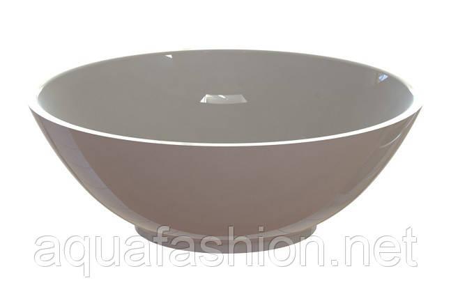 Раковина - чаша на столешницу круглая 42,5 см Snail Камелия