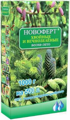 Удобрение Новоферт для Хвойных и вечнозелёных весна-лето  1 кг