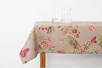 Скатерть водоотталкивающая Бабочки 140х170см розовые