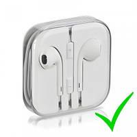 Наушники для мобильного телефона Apple iPhone 5 / 5C / 5S / 6 / 6 Plus Earpods white