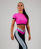 Женский спортивный костюм фитнес, топ и лосины