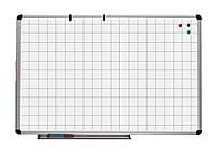 UB90x120Wk Доска магнитно - маркерная в алюминиевой раме в клетку (90х120)
