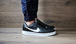 Мужские кроссовки nike Air Force Black низкие