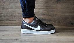 Мужские кроссовки nike Air Force brown низкие