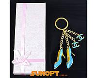 """Брелок в подарочной коробке """"Туфельки"""" №6960-889-1"""