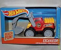 Экскаватор 2445 Hot Wheelsв коробке, прочный пластик, резиновые колеса, подвижные детали, klein