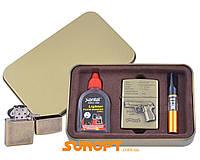 Зажигалка бензиновая в подарочной коробке (Баллончик бензина/Мундштук) Пистолет P88 №XT-4716-3
