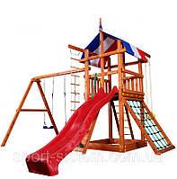 """Игровой комплекс (детская площадка) для улицы """"Три элемента"""" + горка"""
