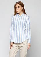 Рубашка женская MASSIMO DUTTI цвет белый размер 36 арт 5112/554/403