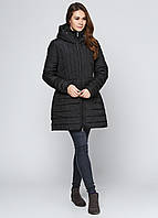 Пуховик женский GEOX цвет черный размер 44 арт W6428CT0407F9000
