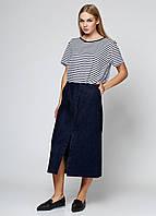 Юбка женская ZARA цвет темно-джинсовый размер XS арт 9123/286/401