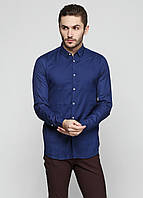 Рубашка мужская ZARA MAN цвет темно-синий размер M арт 5553/403/400