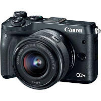 Цифровой фотоаппарат Canon EOS M6 15-45 IS STM Black Kit (1724C043AA)