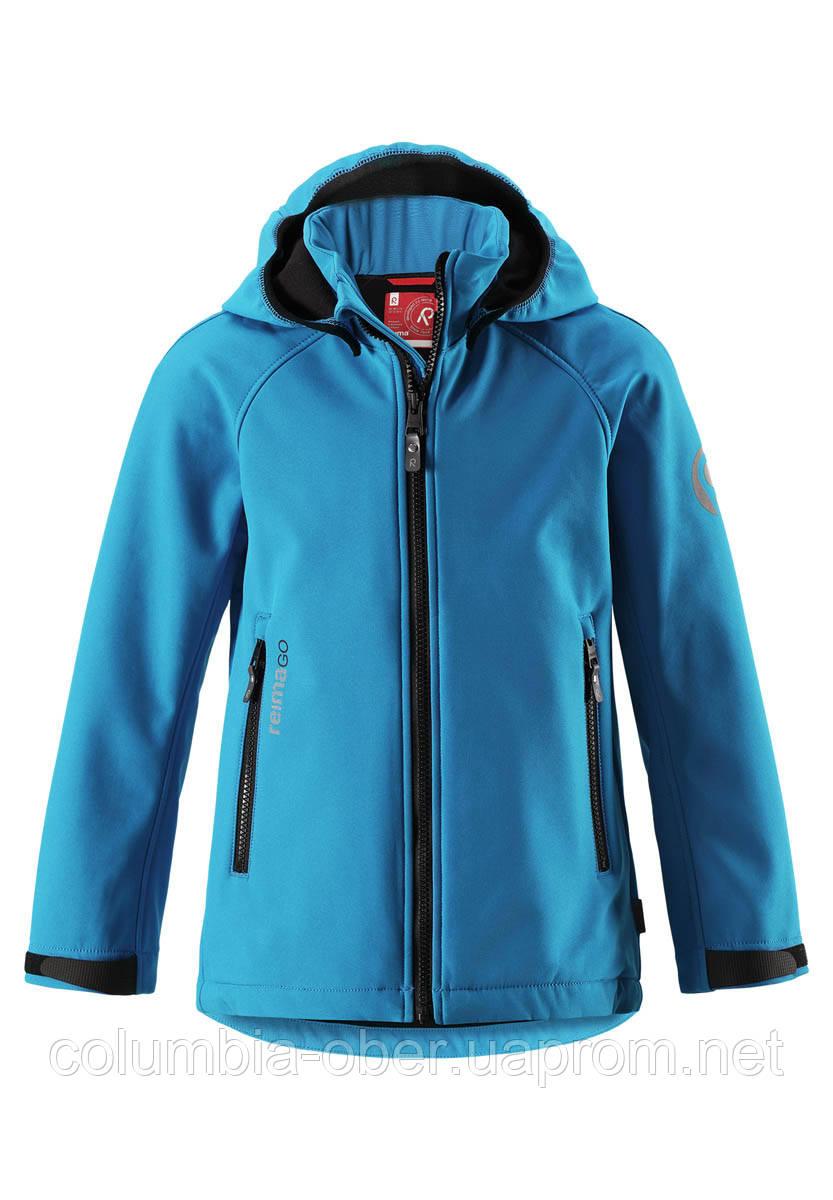 Демисезонная куртка для мальчика из материала Softshell Reima Zayak 531281-6490. Размеры 116-146.