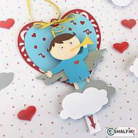 """❤ """"Мой Ангел"""" механическая мини открытка ручной работы в подарок любимым"""
