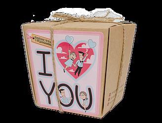 """Печенье с предсказаниями для влюбленных """"I love you"""" в коробочке, 7 шт"""