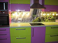 Стеклянный фартук для кухни цена киев