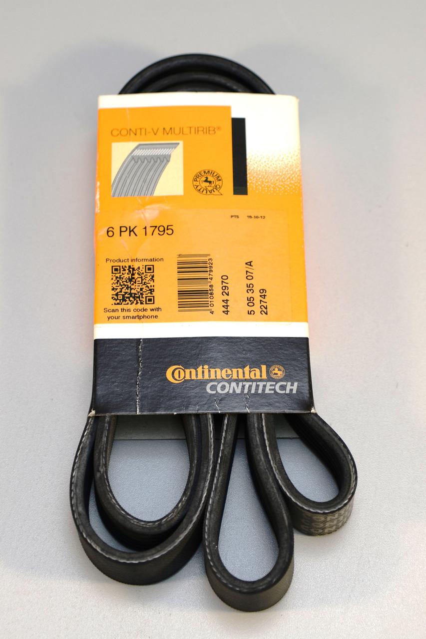 Ручейковий ремінь на Renault Trafic 2003-> 2,5 dCi (135 к. с. +AC) — Contitech (Німеччина) - 6 PK 1795