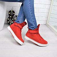 Ботинки женские Timberland Sport Зима красные 3843