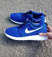 Кроссовки мужские Nike (найк) Roshe Run синие 6031