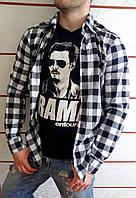 9c0b86734ad Мужская Рубашка в Черно Белую Клетку — Купить Недорого у Проверенных ...