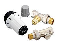 Комплект терморегуляторов радиаторных Danfoss RAS-C+RA-FN+RLV-S Ду 15, прямой (арт.: 013G5254)