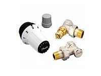 Комплект терморегуляторов радиаторных Danfoss RAS-C+RA-FN+RLV-S Ду 15, угловой (арт.: 013G5253)