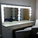 Стол для визажиста на два рабочих места, зеркало с подсветкой, фото 3