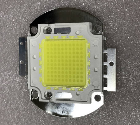 Светодиод матричный СОВ для прожектора 100W 6500К (45Х45 mil) Код.59199, фото 2