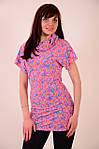 Платье туника диско розовая молодежка с паеткой, фото 3
