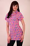 Платье туника диско розовая молодежка с паеткой, фото 5