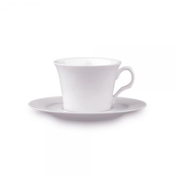 Чашка с блюдцем 80 мл. фарфоровая, белая espresso Alt Porcelain