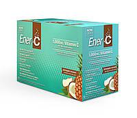 Шипучий Порошковый Витаминный Напиток, Вкус Ананаса и Кокоса, Vitamin C, Ener-C, 30 пакетиков
