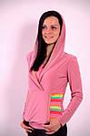Реглан розовый Кенгуру кофта с капюшоном  306322, фото 2