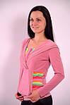 Реглан розовый Кенгуру кофта с капюшоном  306322, фото 3