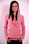 Реглан розовый Кенгуру кофта с капюшоном  306322, фото 4
