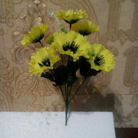 Искусственные цветы Волошка. высота букета  25 см.